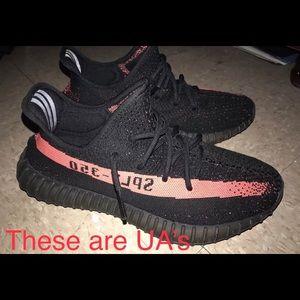 Adidas Yeezy Boost 350 V2 UA size 9 Black/Infrared